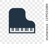 piano vector icon isolated on... | Shutterstock .eps vector #1199231884