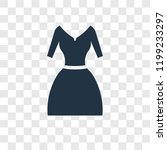 vintage dress vector icon... | Shutterstock .eps vector #1199233297