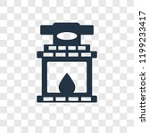 fireplace vector icon isolated... | Shutterstock .eps vector #1199233417
