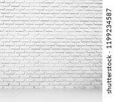 wall white texture brick... | Shutterstock . vector #1199234587
