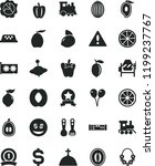 solid black flat icon set... | Shutterstock .eps vector #1199237767