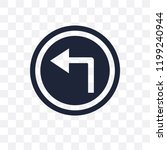 turn left sign transparent icon.... | Shutterstock .eps vector #1199240944