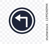 turn left sign transparent icon.... | Shutterstock .eps vector #1199240944