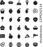 solid black flat icon set cake... | Shutterstock .eps vector #1199242114
