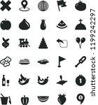 solid black flat icon set cross ... | Shutterstock .eps vector #1199242297