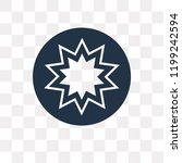 paganism vector icon isolated... | Shutterstock .eps vector #1199242594