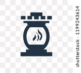 fireplace vector icon isolated... | Shutterstock .eps vector #1199243614
