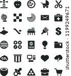 solid black flat icon set heart ... | Shutterstock .eps vector #1199249671