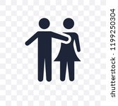 couple huging transparent icon. ...   Shutterstock .eps vector #1199250304
