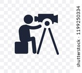 film making transparent icon.... | Shutterstock .eps vector #1199250334