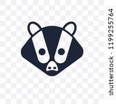 badger transparent icon. badger ... | Shutterstock .eps vector #1199255764