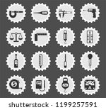 measuring tools web icons... | Shutterstock .eps vector #1199257591