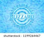 blizzard light blue emblem....   Shutterstock .eps vector #1199264467