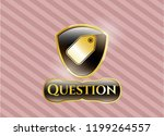 golden emblem or badge with... | Shutterstock .eps vector #1199264557