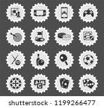 games web icons stylized... | Shutterstock .eps vector #1199266477