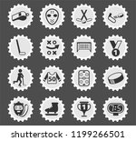 hockey web icons stylized... | Shutterstock .eps vector #1199266501