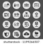 hosting provider web icons... | Shutterstock .eps vector #1199266507
