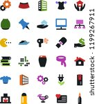 vector icon set   house hold... | Shutterstock .eps vector #1199267911