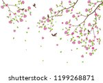 beautiful tree branch with... | Shutterstock .eps vector #1199268871