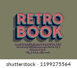 vector colorful sign retro book.... | Shutterstock .eps vector #1199275564