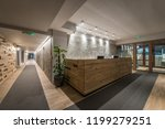 reception desk and view on... | Shutterstock . vector #1199279251