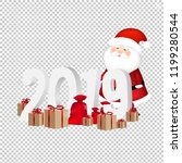 2019 new year text transparent... | Shutterstock .eps vector #1199280544