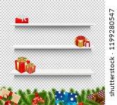 shelves with christmas gift box ... | Shutterstock .eps vector #1199280547