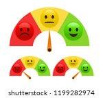 emotion feedback concept.... | Shutterstock .eps vector #1199282974