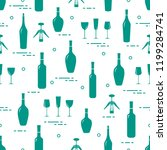 seamless pattern of wine...   Shutterstock .eps vector #1199284741
