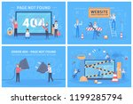 oops 404 error page not found... | Shutterstock .eps vector #1199285794