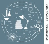 scientific  education elements. ... | Shutterstock .eps vector #1199287054