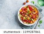 panzanella  traditional italian ... | Shutterstock . vector #1199287861