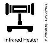 portable infrared heater with... | Shutterstock .eps vector #1199289811
