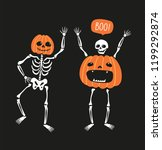 couple of funny skeletons with... | Shutterstock .eps vector #1199292874