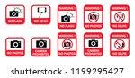 stop sign no selfie sticks no... | Shutterstock .eps vector #1199295427