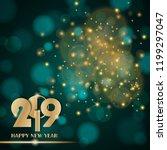 golden lights abstract on... | Shutterstock .eps vector #1199297047