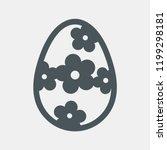 easter floral egg vector | Shutterstock .eps vector #1199298181