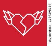 broken heart wings vector | Shutterstock .eps vector #1199298184