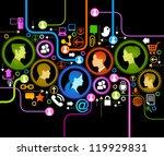 illustration of modern humans... | Shutterstock .eps vector #119929831