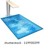 illustration of a swiming pool...