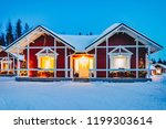 houses in santa claus holiday... | Shutterstock . vector #1199303614