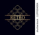 ornament logo design template... | Shutterstock .eps vector #1199304004