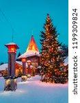 rovaniemi  finland   march 5 ... | Shutterstock . vector #1199309824
