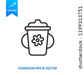 fitness shaker icon isolated on ... | Shutterstock .eps vector #1199313751