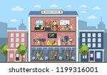 bitcoin mining center city... | Shutterstock . vector #1199316001