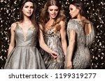 sexy girls on shine background. ... | Shutterstock . vector #1199319277