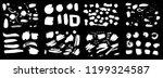 set of white korean  chinese ... | Shutterstock .eps vector #1199324587