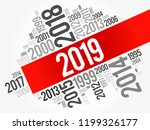 2019 happy new year and... | Shutterstock .eps vector #1199326177