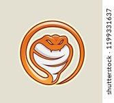vector illustration of orange... | Shutterstock .eps vector #1199331637