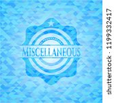 miscellaneous sky blue mosaic... | Shutterstock .eps vector #1199332417